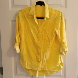🍀3/$10 Canary Yellow Button-up
